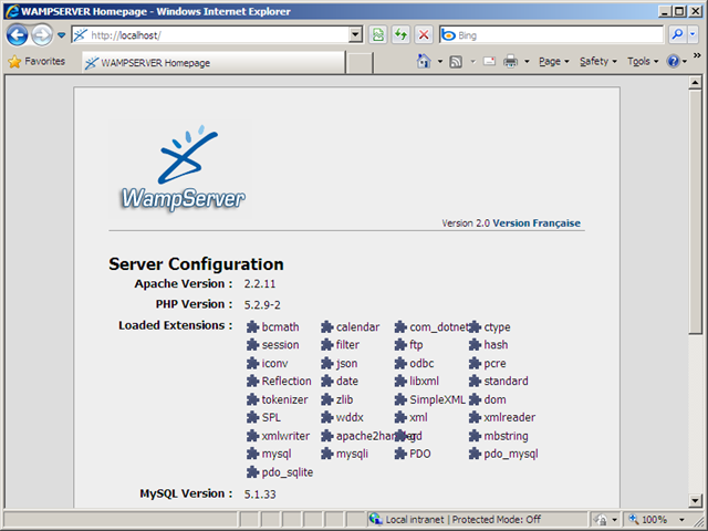 wampserver 2.0  windows 7