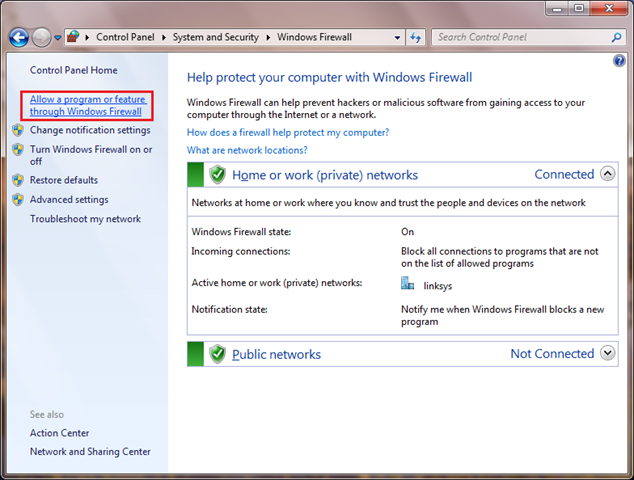 Windows Firewall 1