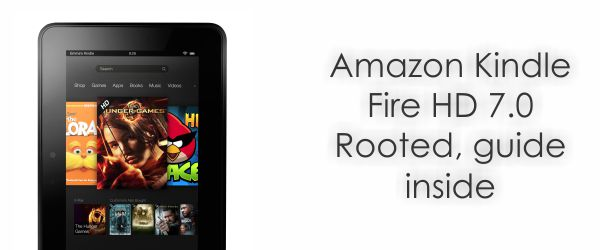 How to root Amazon Kindle fire HD 7.0
