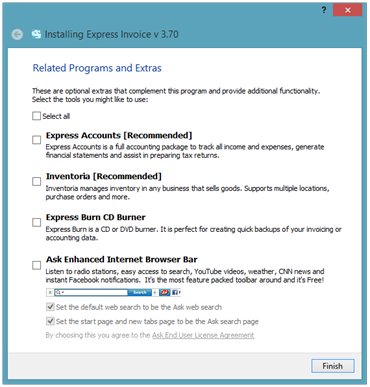 Installing Express Invoice Optional