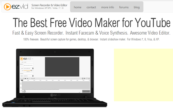 Ezvid Free Screen Recorder and Video Editor For YouTube