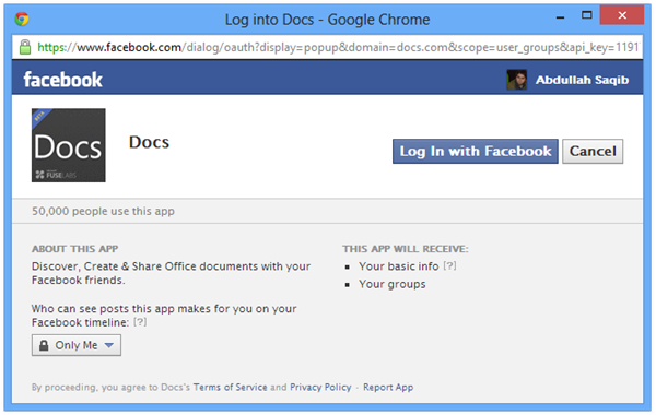 Log into Docs - Google Chrome
