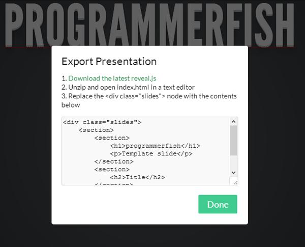 Reveal Export