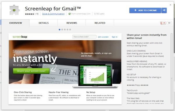Screenleap for Gmail