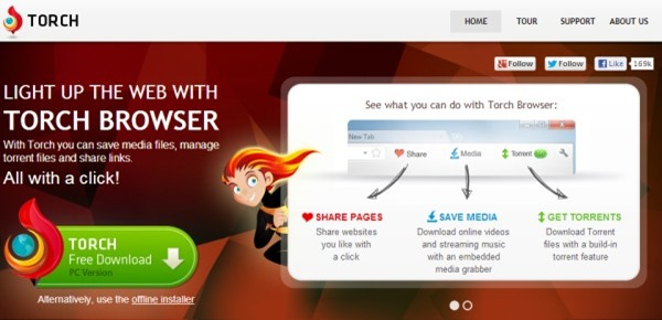 Torch: Chrome-Based Browser Integrated with Media Grabber