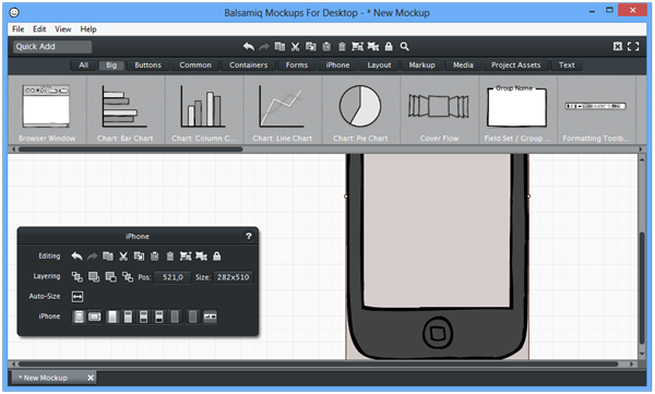 Balsamiq Mockups For Desktop -  New Mockup