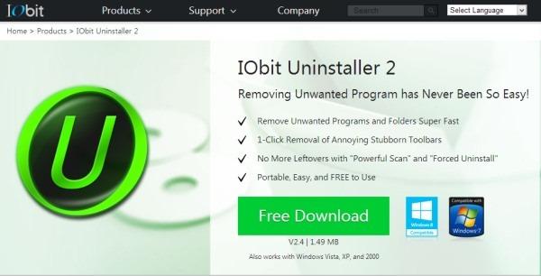 iobit uninstaller official website