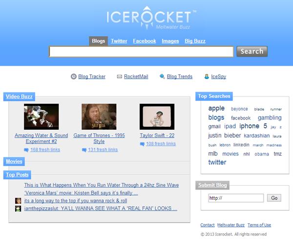 Icerocket search