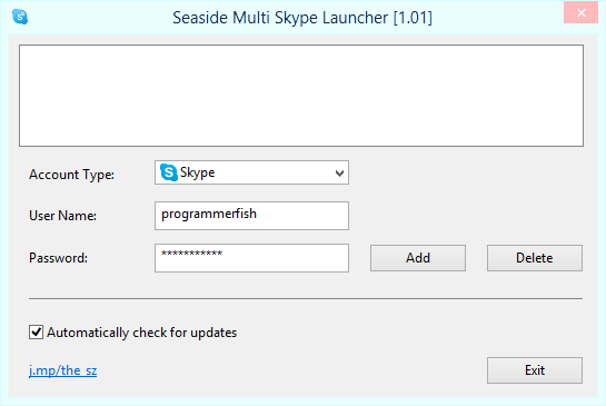 Seaside Multi Skype Launcher [1.01]