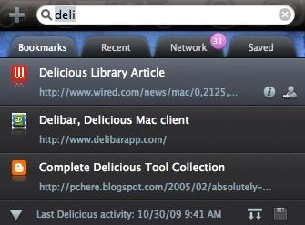 Delecious Search Bar