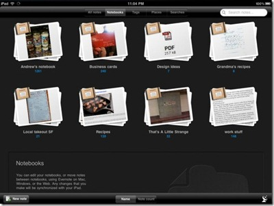 note taking and reminder app for ipad evernote
