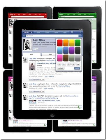 friendly social media ipad app