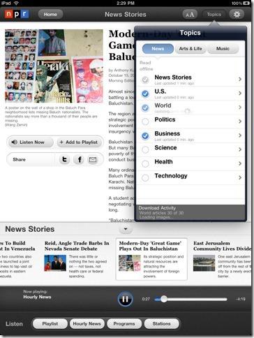 free radio stations on ipad npr app