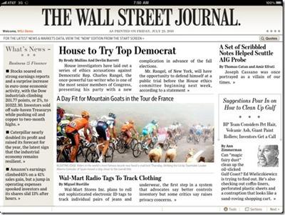 wall street journal on ipad app