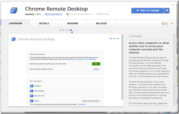 Chrome Remote Desktop - Install