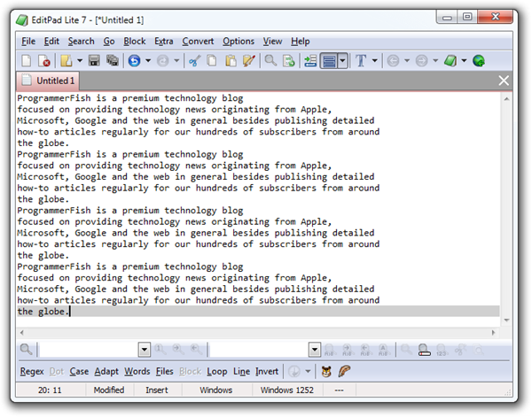 EditPad Lite Inerface