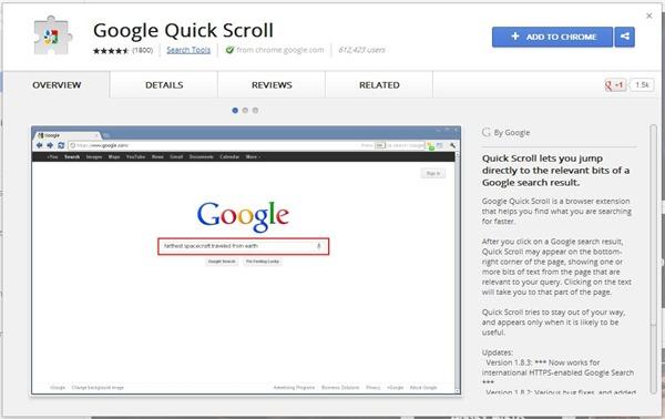 Google Quick Scroll - Chrome Web Store