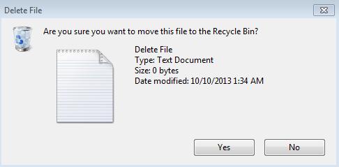 Delete Confirmation Box