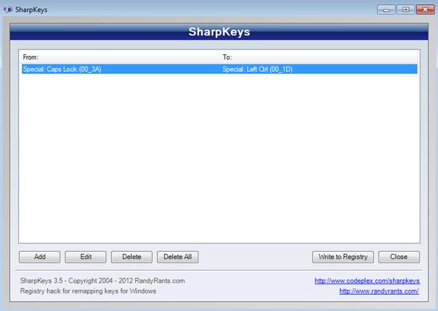 SharpKeys Confirmation box