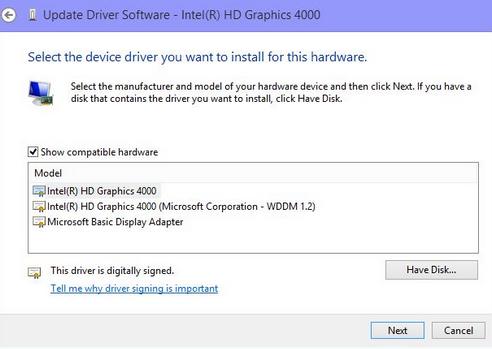 Windows 8.1 Driver Update Search