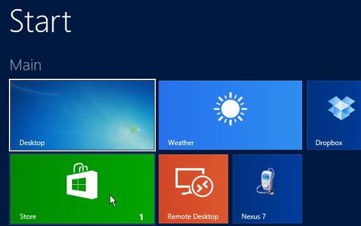 Windows 8.1 Store Tile