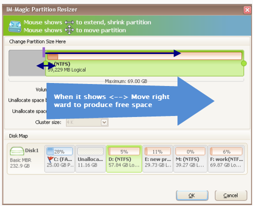 Extend a Partition or Volume without Formatting in Windows 7 and Windows 8 3