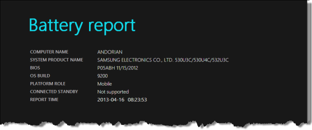 How To Generate a Battery Usage Report in Windows 8 and 8.1 1